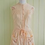 vintage 1960s embroidered dress