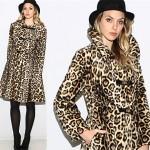 vintage 1960s faux leopard coat