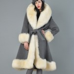 vintage 1960s lilli ann shearling wool coat