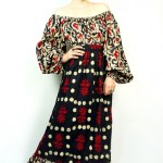 vintage 1970s batik maxi dress