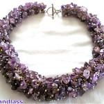 vintage 1970s emilia castillo amethyst necklace