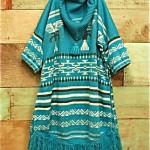 vintage 1970s hippie fringe sweater tunic top