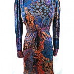 vintage 1970s leonard silk jersey dress