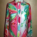 vintage 1970s pucci sheer cotton blouse