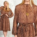 vintage 1970s snakeskin print dress
