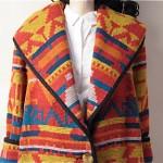 vintage 1980s navajo southwest hooded blanket coat