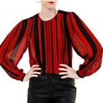 vintage 1980s stripe blouse