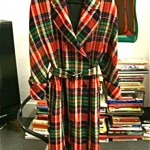 vintage 1980s valentino plaid coat