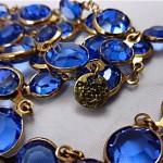 vintage 1981 chanel blue crystal necklace