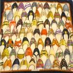 vintage 1990s ferragamo silk shoe scarf