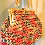 vintage bamboo woven purse with provenance