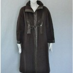vintage bonnie cashin sills mohair and leather coat