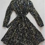 vintage chanel boutique metallic sheer cocktail dress