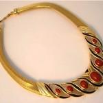 vintage christian dior modernist choker necklace