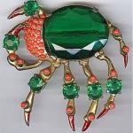 vintage eisenberg ruth kamke crab brooch
