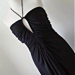 vintage halston jersey maxi dress