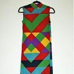 vintage lanvin op art maxi dress