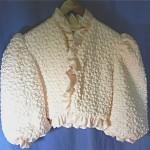 vintage lanvin silk bolero bed jacket