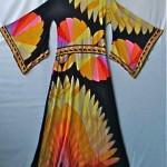 vintage leonard silk kimono dress