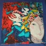 vintage michael vollbrach silk scarf