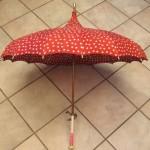 vintage polka dot umbrella