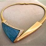 vintage trifari matsumoto rhinestone and enamel necklace