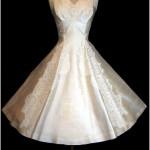 vintage 1950s bonwit teller wedding dress1