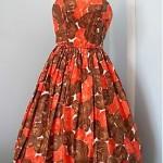 vintage 1950s floral sundress