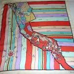 vintage 1950s pucci silk scarf california mermaids