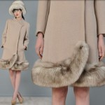 vintage 1960s asymmetric fox trim coat