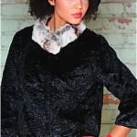 vintage 1960s chinchilla rim jacket