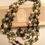 vintage 1960s dior necklace with original box