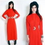 vintage 1960s pauline trigere maxi dress