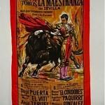 vintage 1960s souvenir poster scarf
