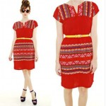 vintage 1970s embroidered dress