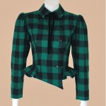 vintage 1980s ungaro plaid wool jacket