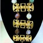 vintage castlecliff aztec necklace