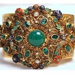 vintage czech rhinestone enamel bracelet