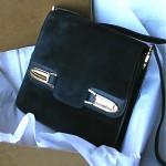 vintage gucci suede handbag in box