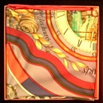vintage hermes scarf NWT and box
