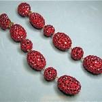 vintage james arpad rhinestone shoulder duster earrings