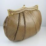 vintage judith leiber snakeskin clutch handbag