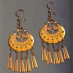 vintage kalevala koru moon goddess earrings
