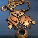 vintage marjorie baer copper and brass necklce