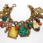 vintage napier asian theme charm bracelet