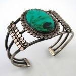 vintage navajo ss chrysocolla cuff bracelet