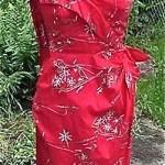 vintage nos hawaiian sarong dress with detachable stole