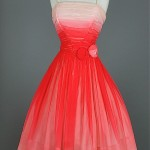 vintage ombre party dress