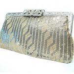 vintge 1940s whiting and davis mesh evening bag