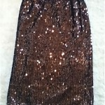 vintage ysl sequin pencil skirt